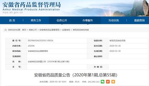 安徽省药品监督管理局:18批次药