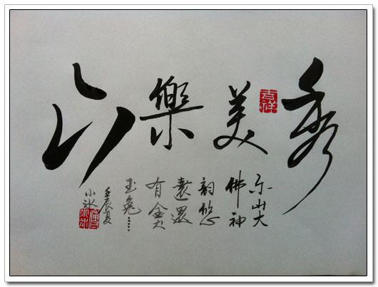 傅小冰书法作品集 秀美乐山