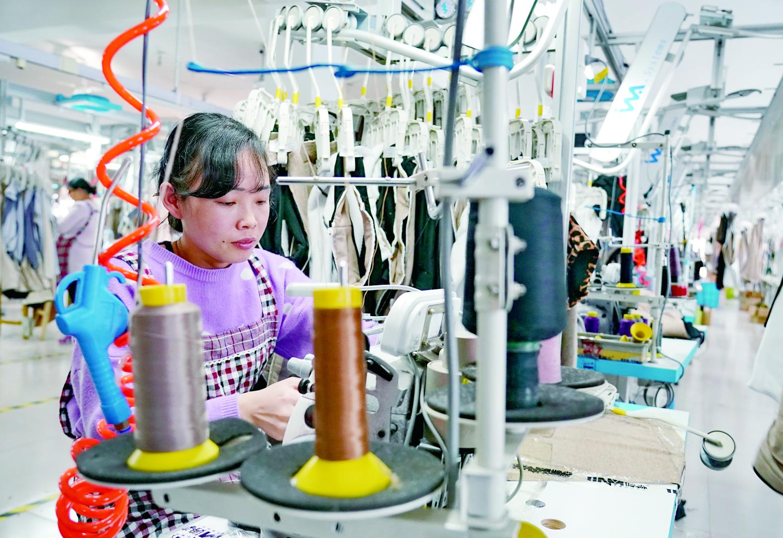 河北省肃宁县依托传统针纺产业优