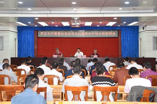 广东省罗定市召开开展整治食品安